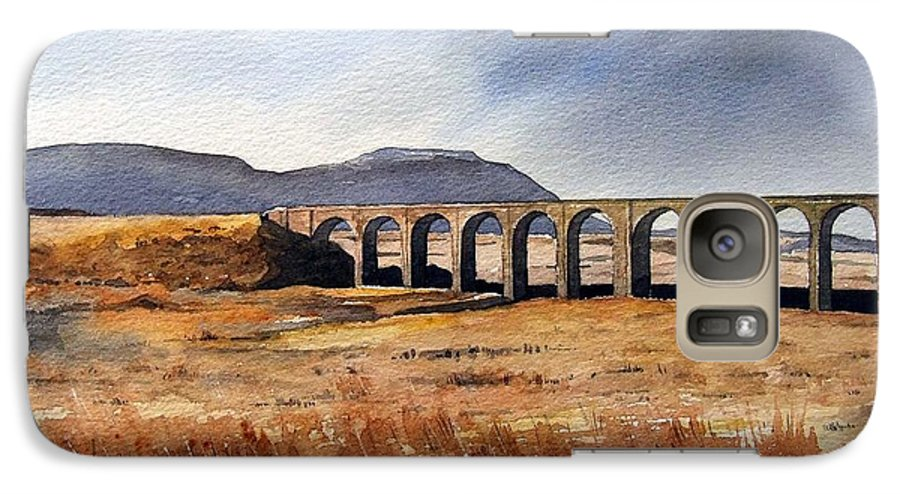 Landscape Galaxy S7 Case featuring the painting Ribblehead Viaduct by Paul Dene Marlor