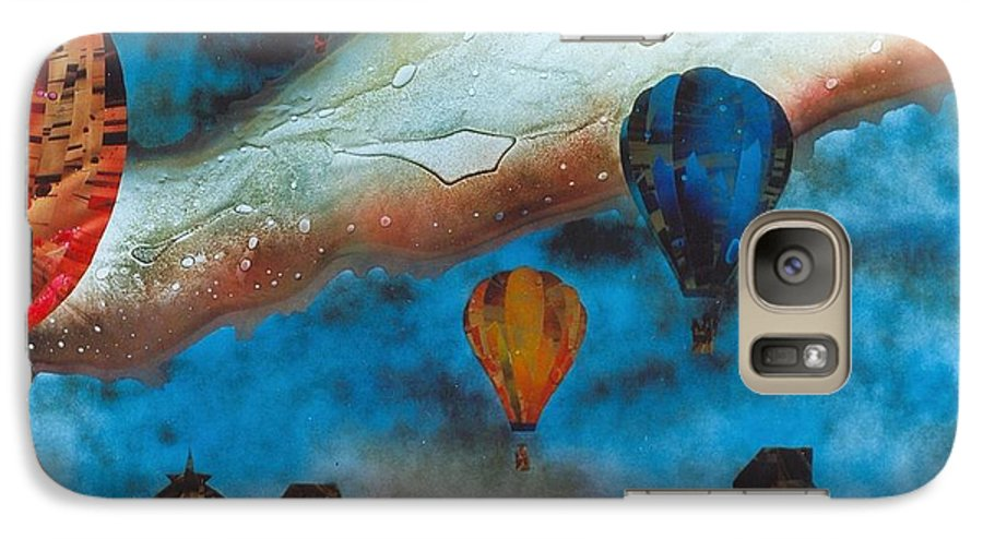 Landscape Galaxy S7 Case featuring the painting Riding The Chinook by Rick Silas
