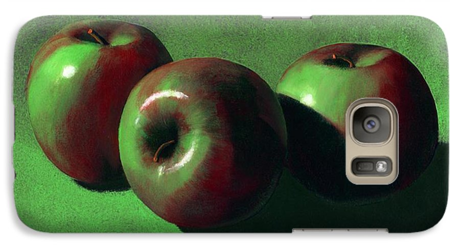 Still Life Galaxy S7 Case featuring the painting Ripe Apples by Frank Wilson