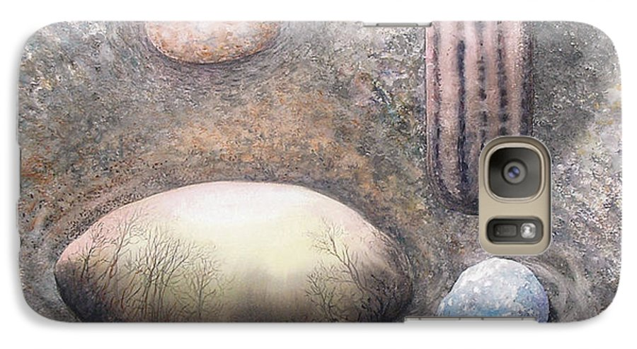 Abstract Galaxy S7 Case featuring the painting River Rock 1 by Valerie Meotti