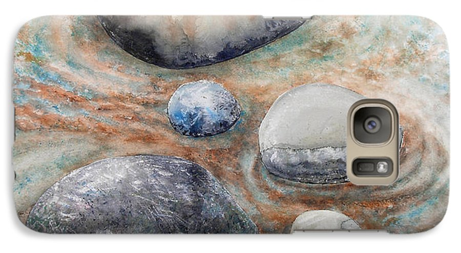 Abstract Galaxy S7 Case featuring the painting River Rock 2 by Valerie Meotti