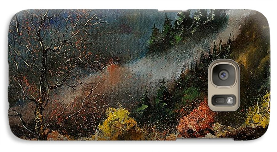 River Galaxy S7 Case featuring the painting River Semois by Pol Ledent