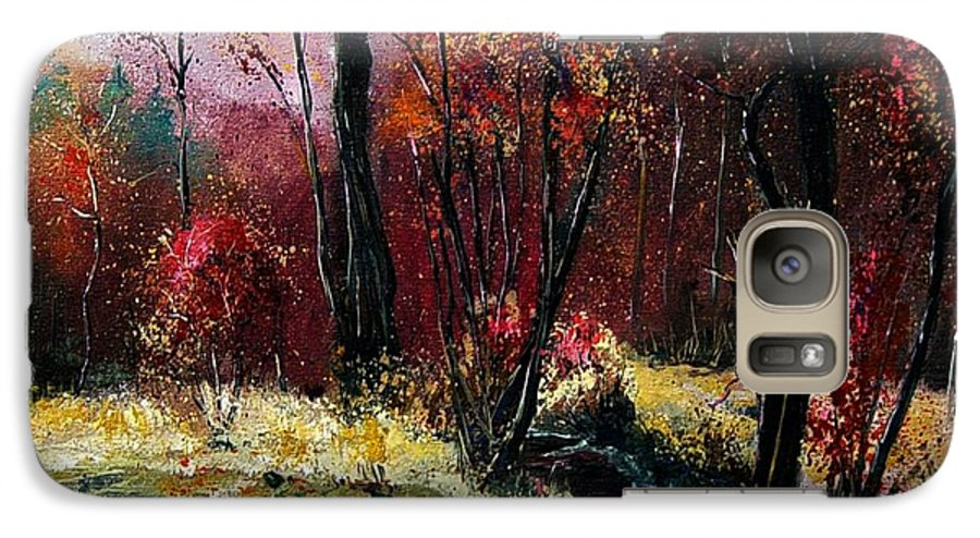 River Galaxy S7 Case featuring the painting River Ywoigne by Pol Ledent