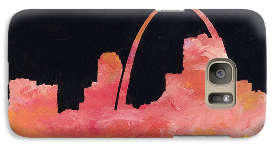 Cityscape Galaxy S7 Case featuring the painting Riverfront by Joseph A Langley