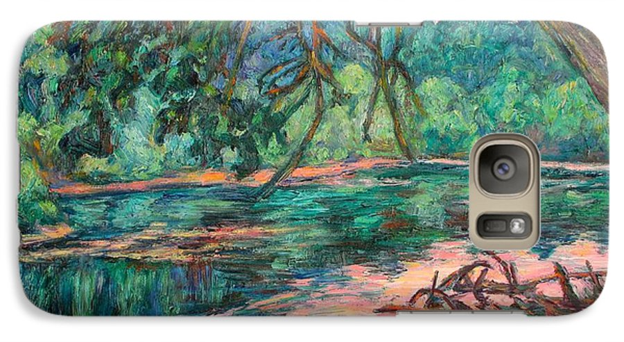 Riverview Park Galaxy S7 Case featuring the painting Riverview At Dusk by Kendall Kessler