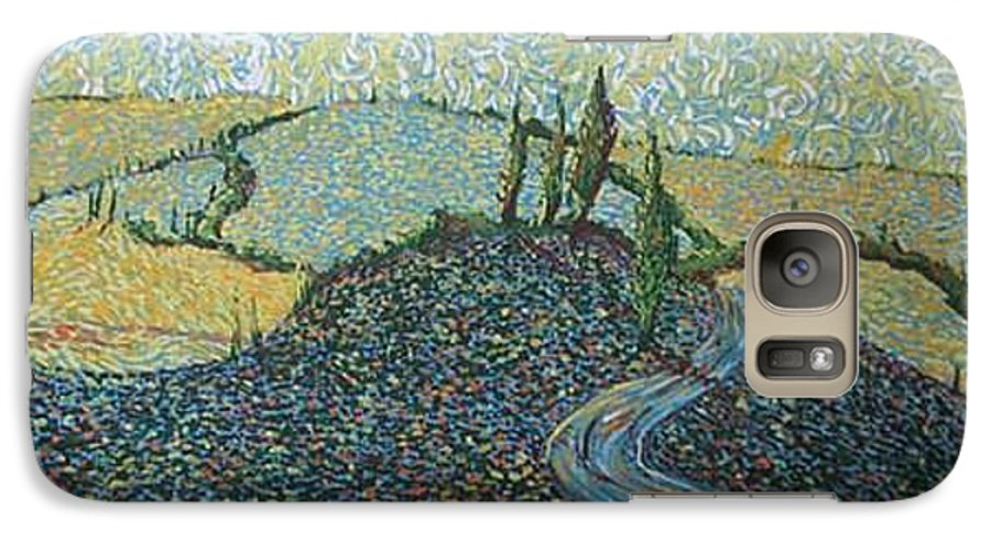 Landscape Galaxy S7 Case featuring the painting Road To Tuscany by Stefan Duncan