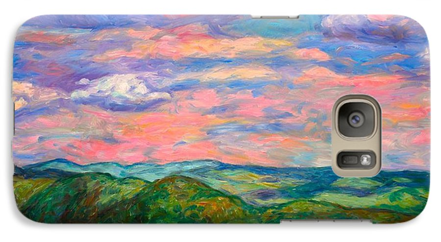 Landscape Paintings Galaxy S7 Case featuring the painting Rock Castle Gorge by Kendall Kessler