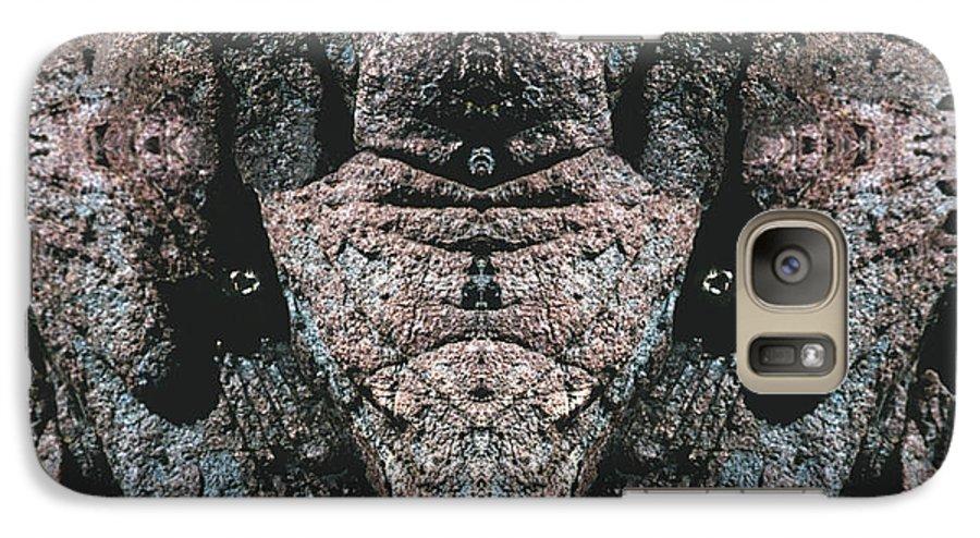 Rocks Galaxy S7 Case featuring the digital art Rock Gods Elephant Stonemen Of Ogunquit by Nancy Griswold