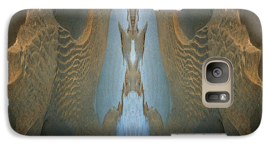 Rocks Galaxy S7 Case featuring the photograph Rock Gods Seabird Of Old Orchard by Nancy Griswold