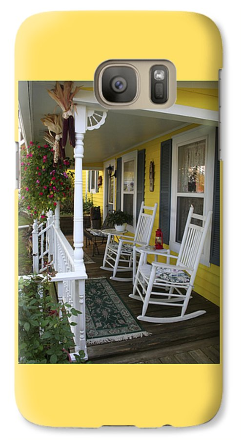 Rocking Chair Galaxy S7 Case featuring the photograph Rockers On The Porch by Margie Wildblood