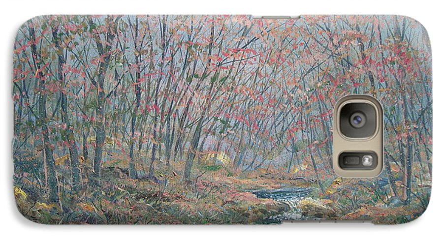 Painting Galaxy S7 Case featuring the painting Rocky Forest. by Leonard Holland