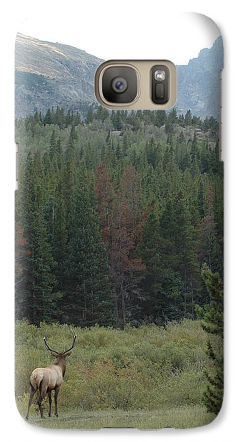 Elk Galaxy S7 Case featuring the photograph Rocky Mountain Elk by Kathy Schumann