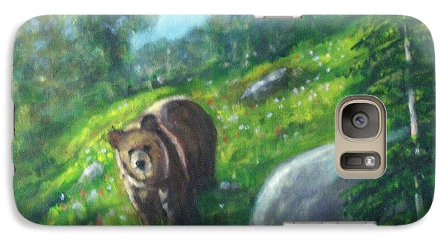 Wildlife Galaxy S7 Case featuring the painting Rocky Mountain Spring by Darla Joy Johnson