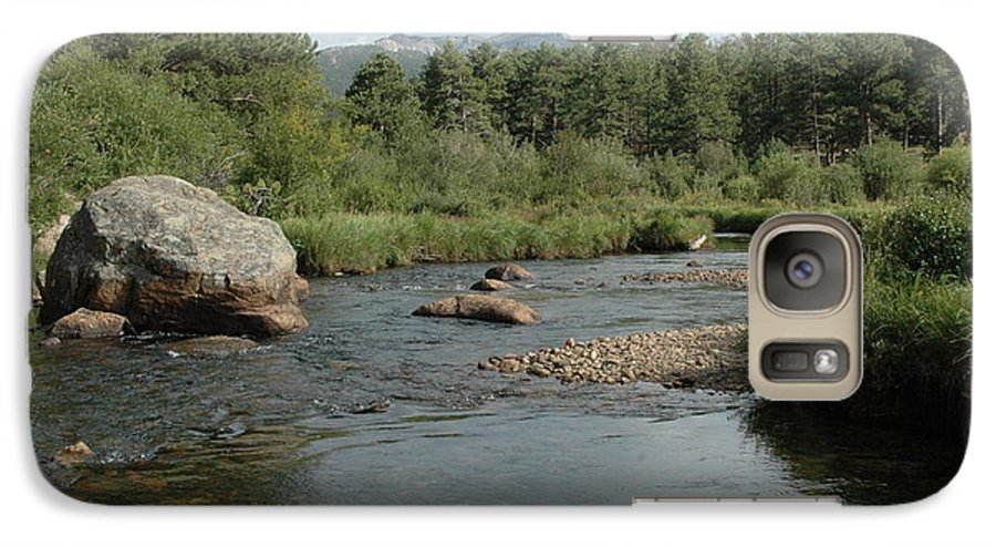 Nature Galaxy S7 Case featuring the photograph Rocky Mountain Stream by Kathy Schumann