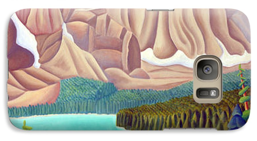 Landscape Galaxy S7 Case featuring the painting Rocky Mountain View 3 by Lynn Soehner