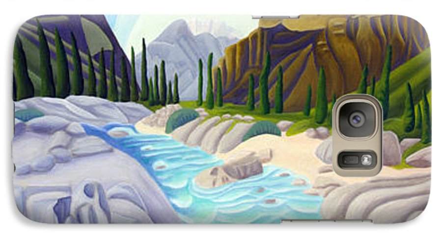 Landscape Galaxy S7 Case featuring the painting Rocky Mountain View 5 by Lynn Soehner