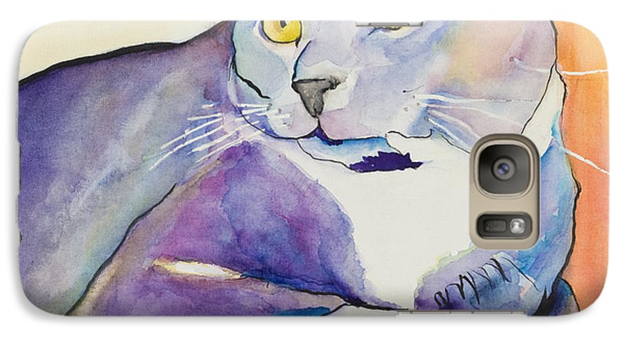 Pat Saunders-white Galaxy S7 Case featuring the painting Rocky by Pat Saunders-White