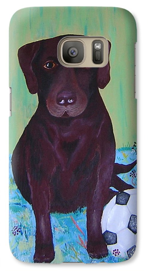 Dog Galaxy S7 Case featuring the painting Rocky by Valerie Josi