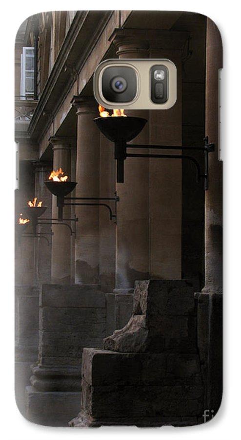 Bath Galaxy S7 Case featuring the photograph Roman Baths by Amanda Barcon