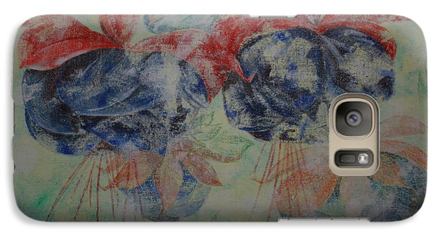 Flowers Galaxy S7 Case featuring the painting Romance 3 by Harri Spietz