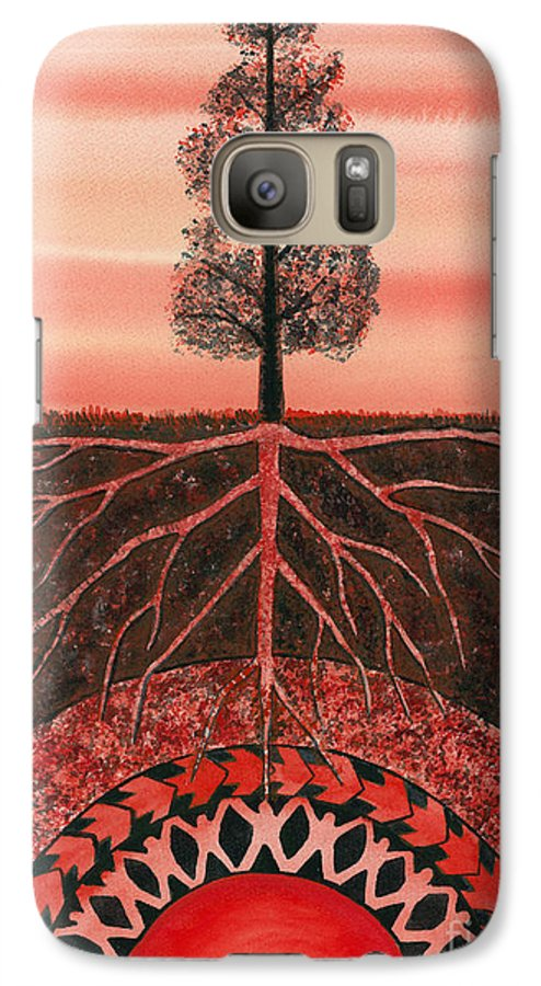 Chakra Galaxy S7 Case featuring the painting Root Chakra by Catherine G McElroy