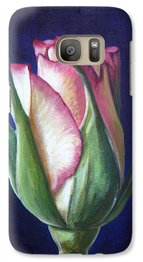 Rose Galaxy S7 Case featuring the painting Rose Bud by Fiona Jack