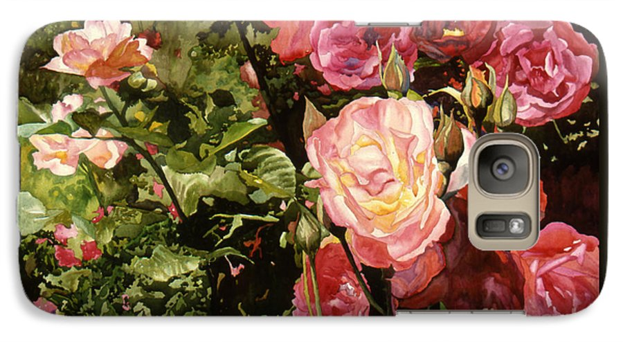 Watercolor Galaxy S7 Case featuring the painting Rose Garden by Teri Starkweather
