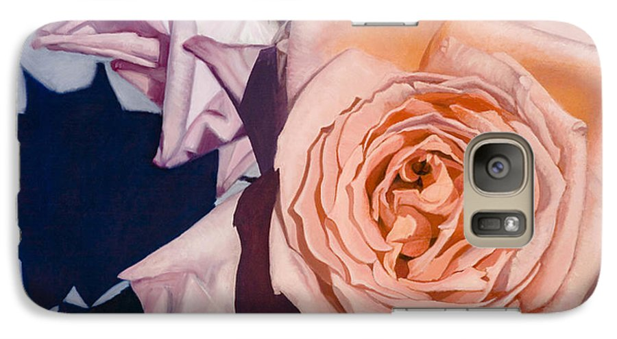 Roses Galaxy S7 Case featuring the painting Rose Splendour by Kerryn Madsen-Pietsch
