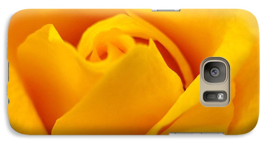 Rose Galaxy S7 Case featuring the photograph Rose Yellow by Rhonda Barrett
