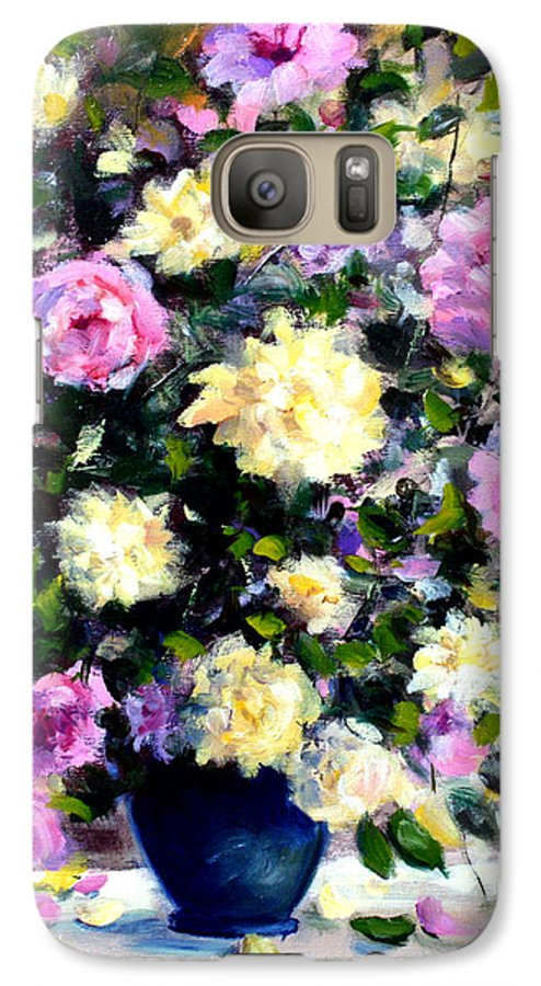 Roses Galaxy S7 Case featuring the painting Roses by Mario Zampedroni