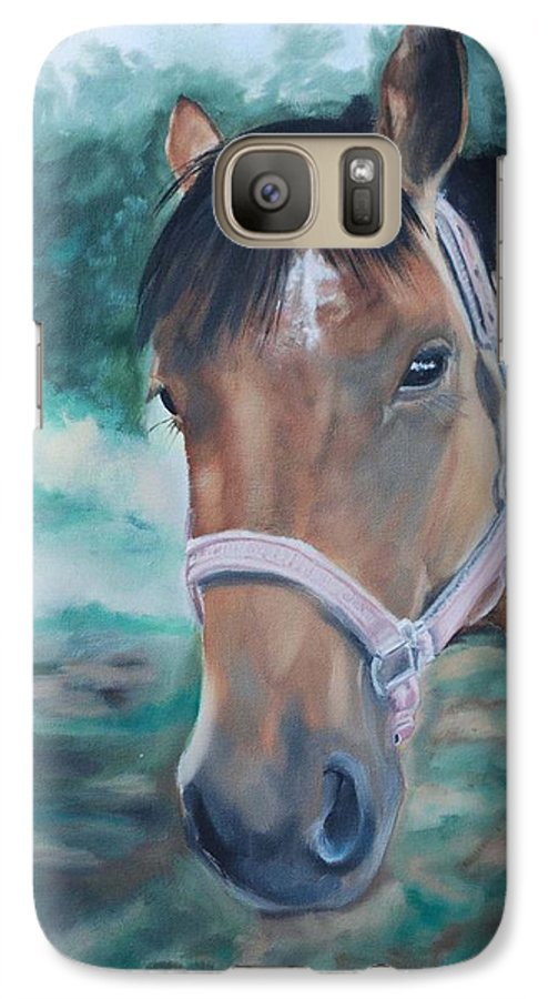 Horse Galaxy S7 Case featuring the painting Rosie by Margaret Fortunato