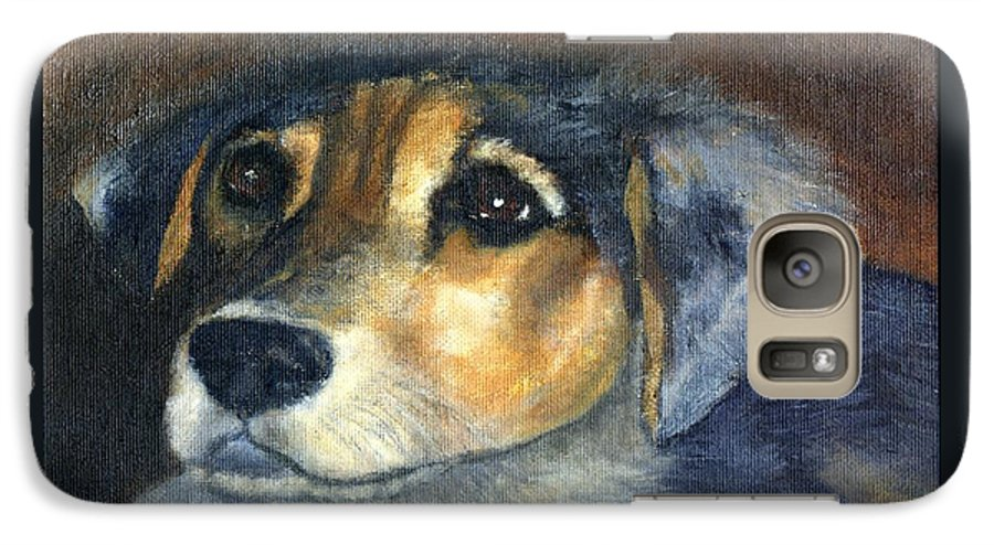Dog Galaxy S7 Case featuring the painting Roxie by Gail Kirtz