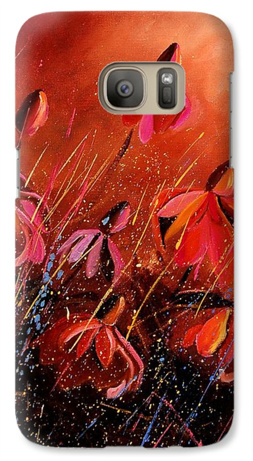 Poppies Galaxy S7 Case featuring the painting Rudbeckia's 45 by Pol Ledent