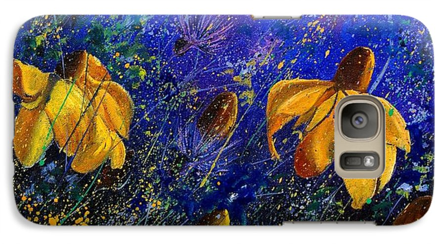 Poppies Galaxy S7 Case featuring the painting Rudbeckia's by Pol Ledent