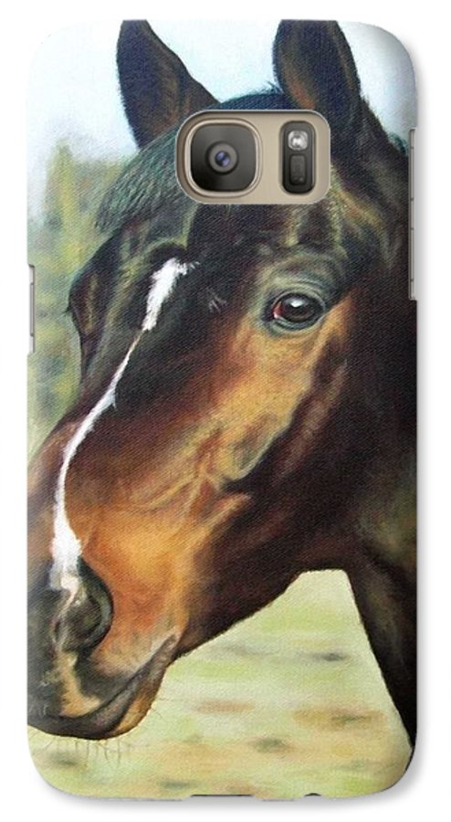 Horse Galaxy S7 Case featuring the painting Russian Horse by Nicole Zeug