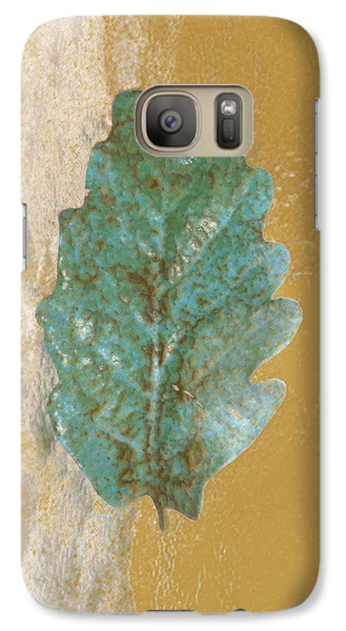 Leaves Galaxy S7 Case featuring the photograph Rustic Leaf by Linda Sannuti