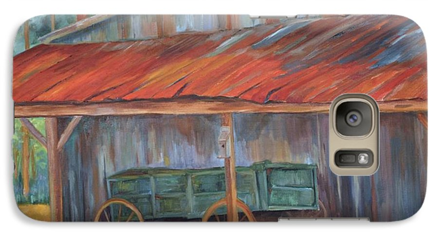 Old Wagons Galaxy S7 Case featuring the painting Rustification by Ginger Concepcion