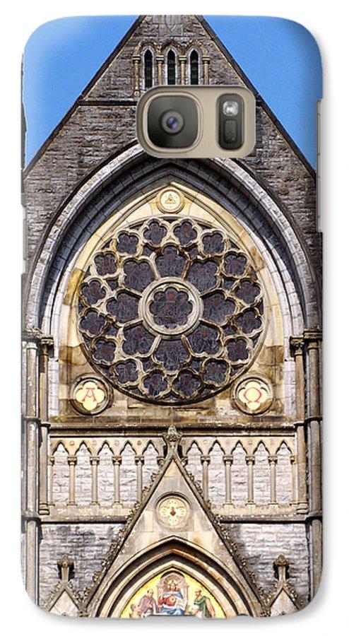 Ireland Galaxy S7 Case featuring the photograph Sacred Heart Church Detail Roscommon Ireland by Teresa Mucha