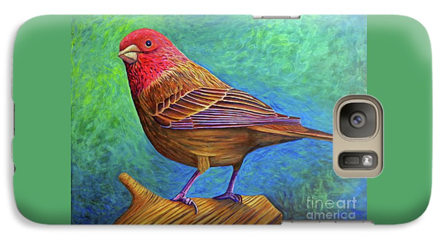 Bird Galaxy S7 Case featuring the painting Sacred Space by Brian Commerford