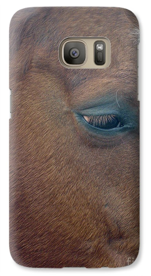 Horse Galaxy S7 Case featuring the photograph Sad Eyed by Shelley Jones