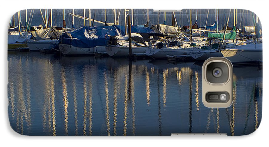 Mast Galaxy S7 Case featuring the photograph Sailboat Reflections by Idaho Scenic Images Linda Lantzy