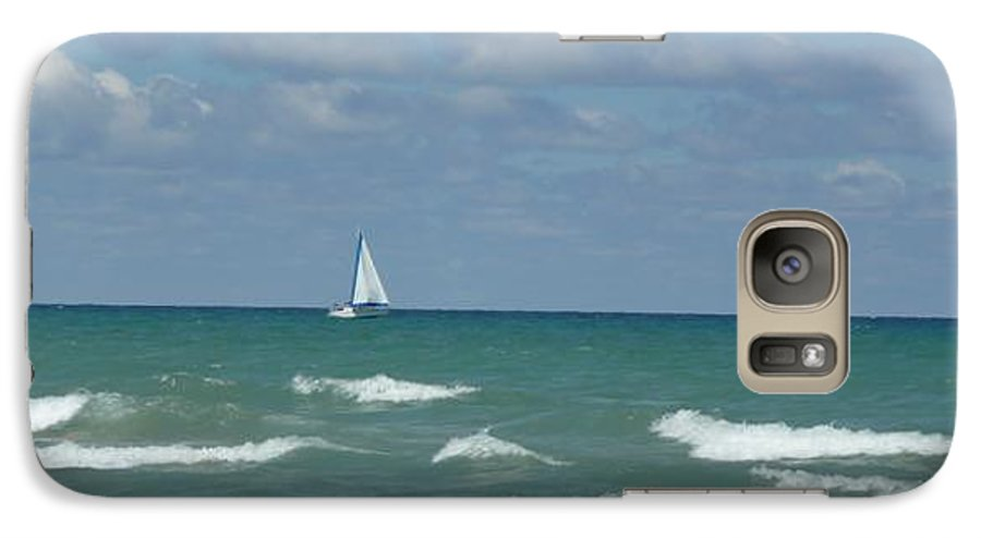 Scenery Galaxy S7 Case featuring the photograph Sailing Away On The Lake by Barb Montanye Meseroll