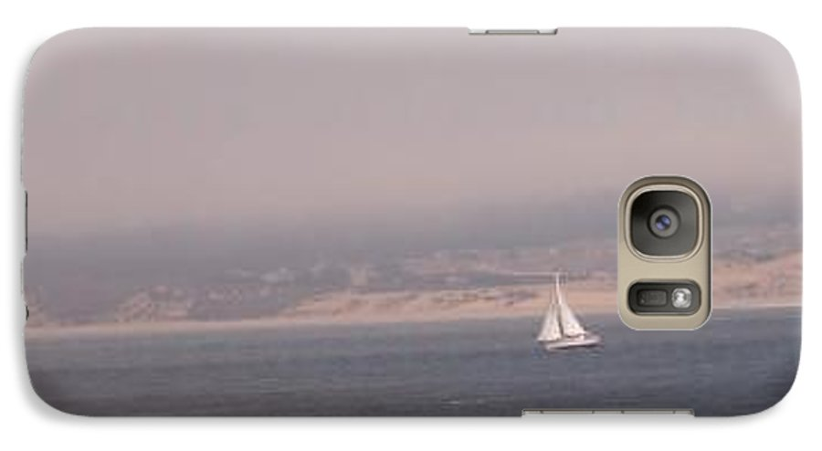 Sailing Sail Sailboat Boating Boat Ocean Pacific Bay Sea Seascape Nature Outdoors Marine Beach Galaxy S7 Case featuring the photograph Sailing Solo by Pharris Art
