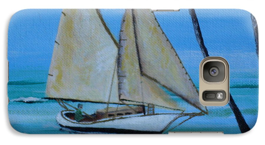 Sailboat Galaxy S7 Case featuring the painting Sailor's Dream by Susan Kubes