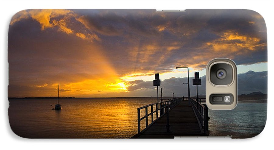 Sunrise Galaxy S7 Case featuring the photograph Salamander Bay Sunrise by Sheila Smart Fine Art Photography