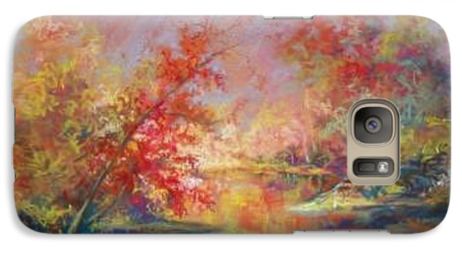 Landscape In Autumn Galaxy S7 Case featuring the painting Saline River View by Marlene Gremillion