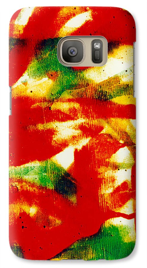 Abstract Galaxy S7 Case featuring the photograph Salsa by David Rivas
