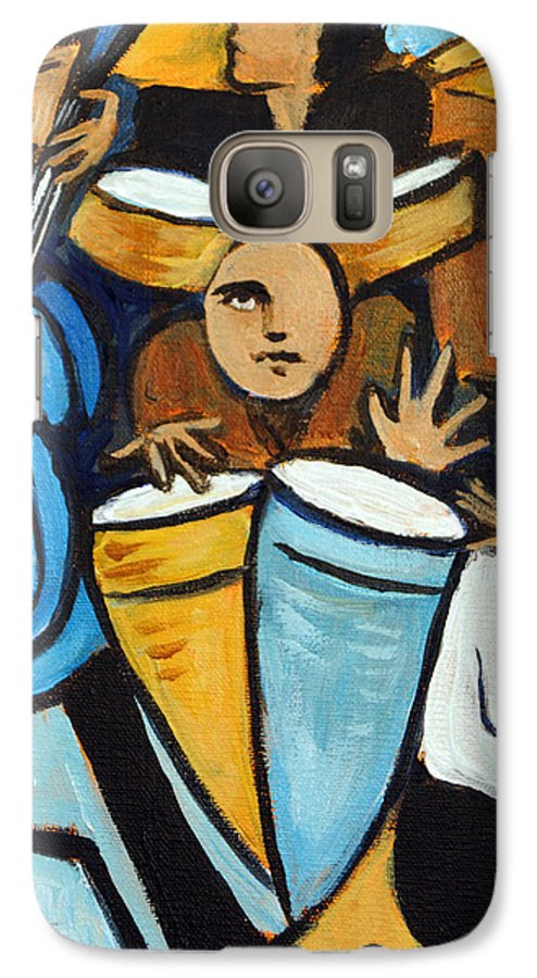 Cubist Salsa Dancers Galaxy S7 Case featuring the painting Salsa Night by Valerie Vescovi