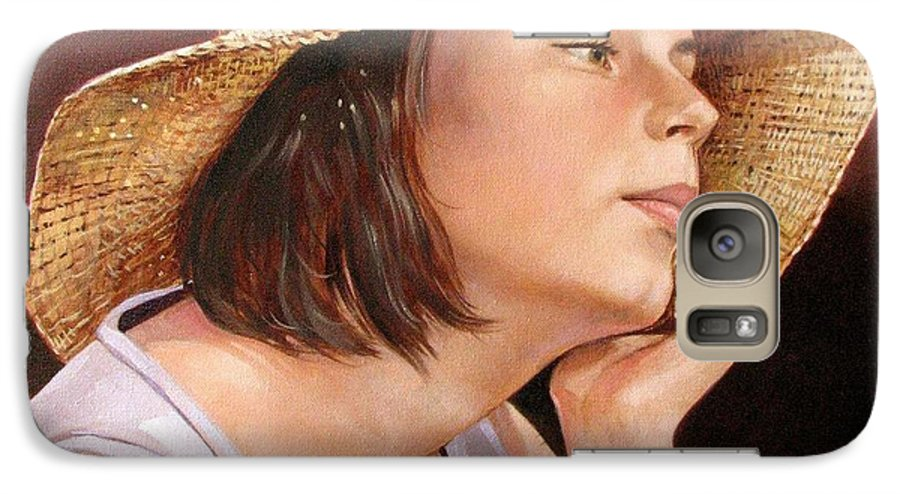 Portrait Galaxy S7 Case featuring the painting Sammie by Jerrold Carton