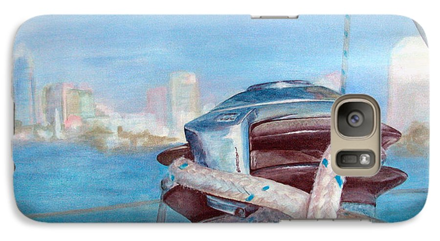 Landscape Galaxy S7 Case featuring the painting San Diego by Muriel Dolemieux